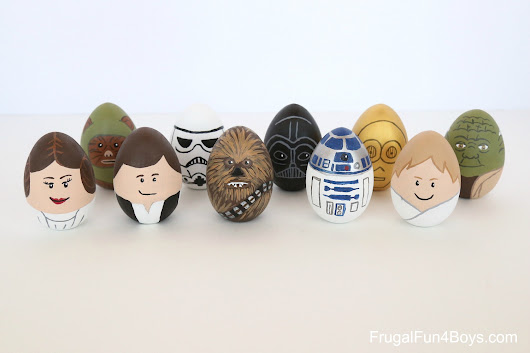 How to Make Star Wars Painted Easter Eggs - Frugal Fun For Boys and Girls
