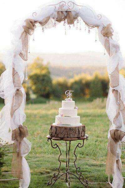 ideas  burlap wedding arch  pinterest