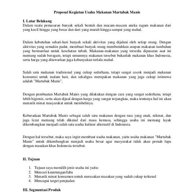 Contoh Proposal Usaha Makanan Khas Daerah Lampung Berbagi Contoh Proposal