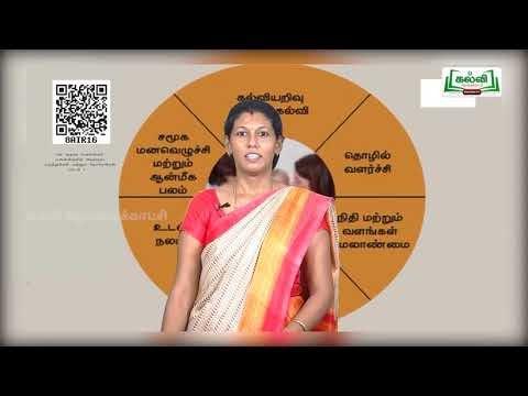11th Home Science மனை அறிவியியல் அடிப்படைக் கருத்துக்கள் நோக்கங்கள் அலகு 1 Kalvi TV