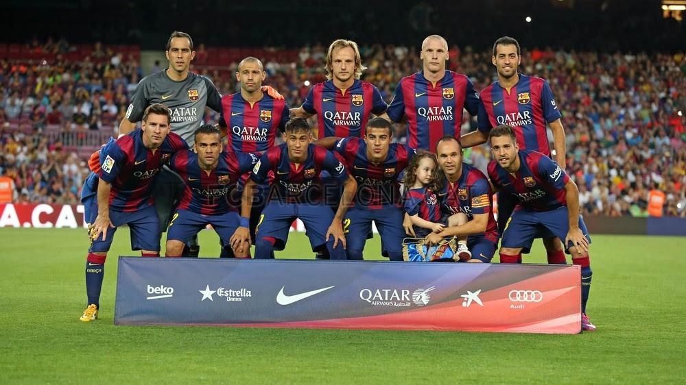 Foto del equipo titular del Joan Gamper 2014
