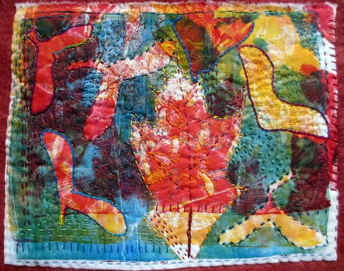 monoprint on cloth