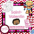 FRENCH {Valentine's day} Math and literacy Pack/ Activités de Saint-Valentin