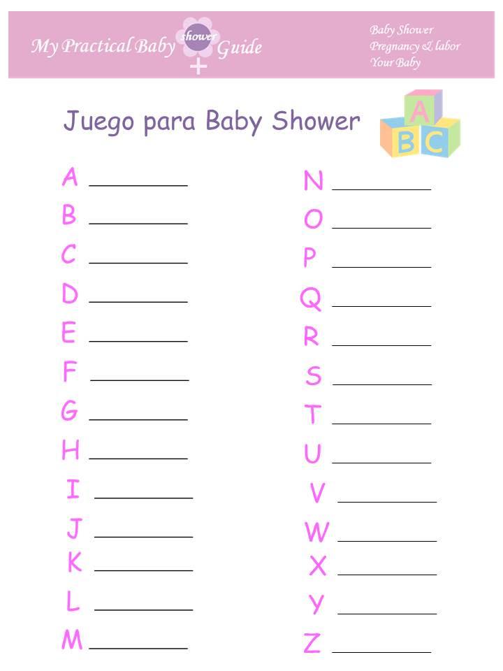 81 Juegos Para Baby Shower Listos Para Imprimir Gratis Baby Shower