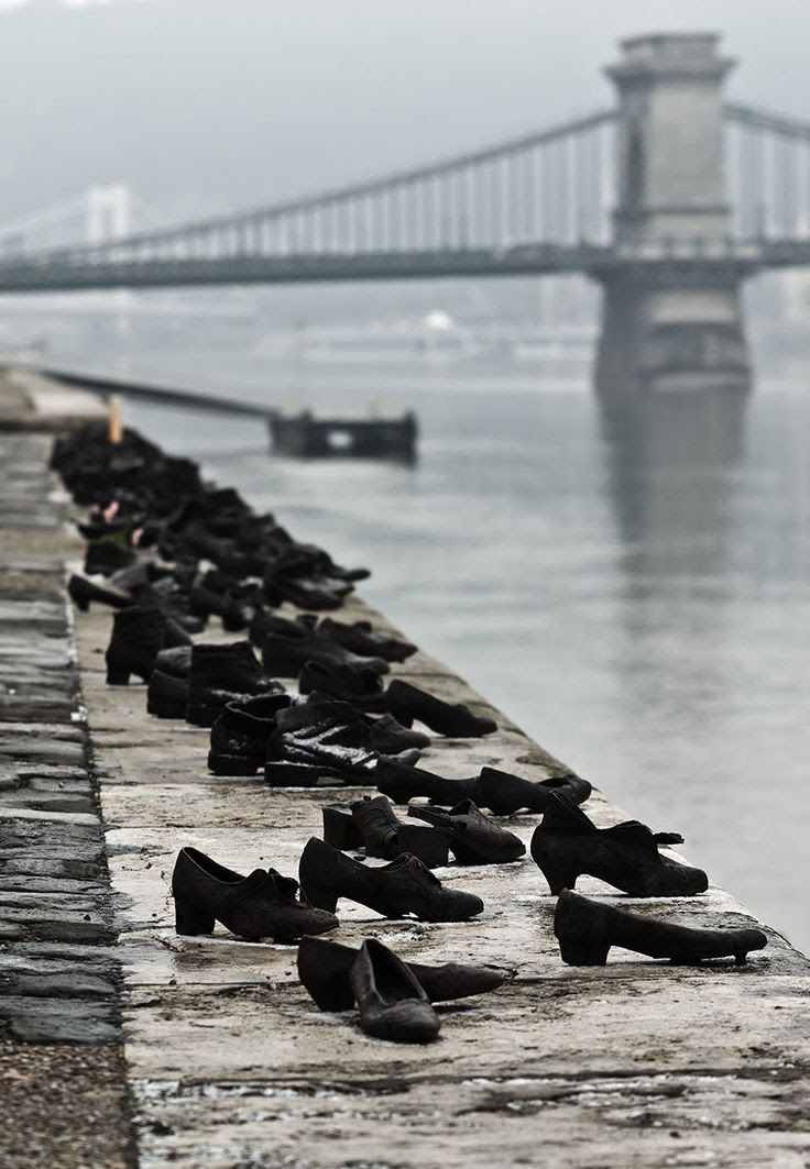 The Shoes On The Danube Bank; Can Togay & Gyula Pauer; Budapest, Hungary