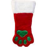 Outward Hound Dog Paw Christmas Stocking, Small