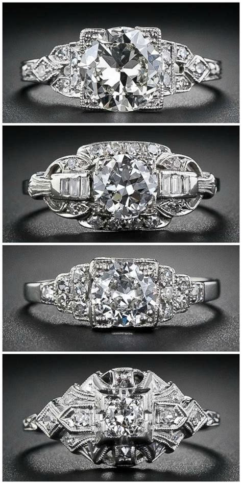25  Best Ideas about Art Deco Engagement Rings on