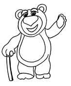 Rex Is Standing coloring page | Super Coloring
