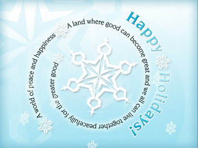 Happy Holidays - A new eCard for a World of Peace and Happiness