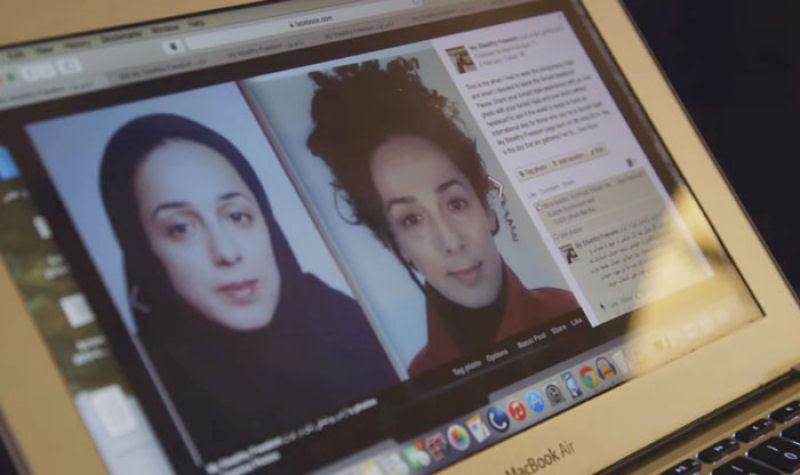 Iranianas protestam contra a estrita lei do hijab publicando fotos com a melena ao vento 06
