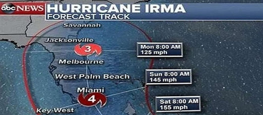 Hurricane Irma affecting millions in its path