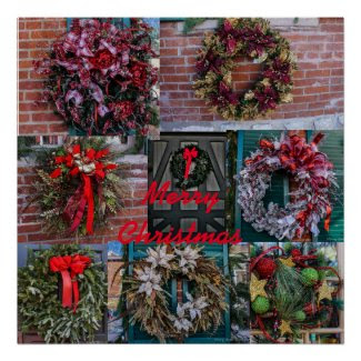Christmas Wreaths Poster