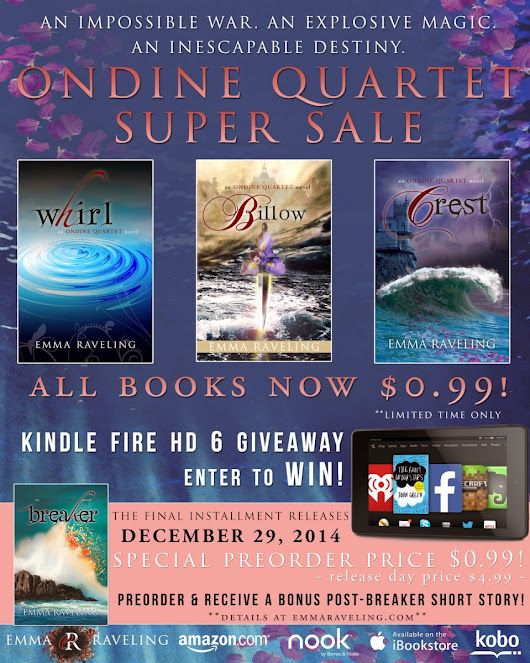 Ondine Quartet Sale + Kindle Fire HD 6 Giveaway!!!