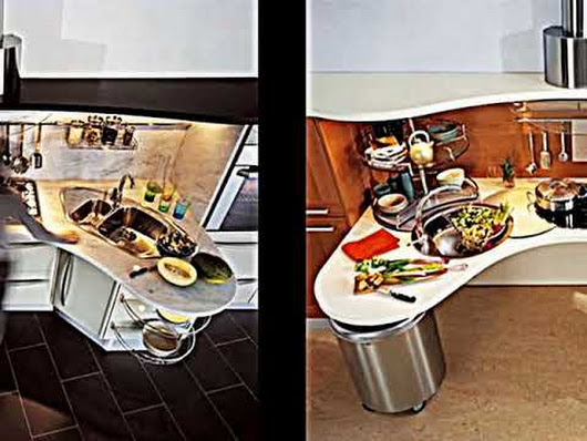 Platzsparende Mini Küche -- die Singleküche von Boffi Computer in ...