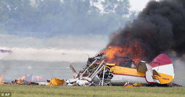 Smoulders: The National Transportation Safety Board is investigating the cause of the crash