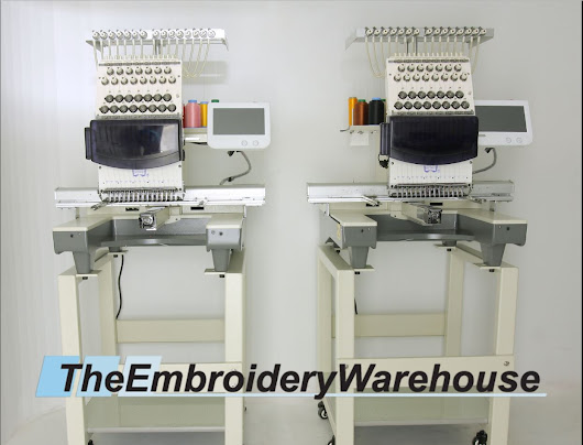 Dual (2) Head 15 Needle Commercial Embroidery Machines - Butterfly Commercial Embroidery Machines