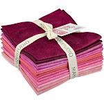 Shadow Play Pink Fat Quarter Bundle of 14 Cotton Fabric by Maywood Studio
