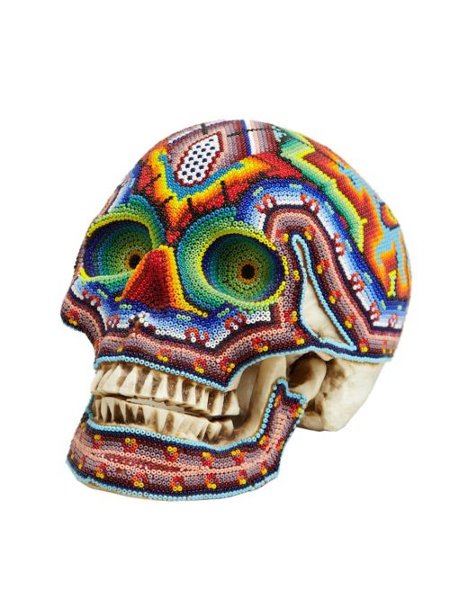 The uproariously colourful beaded skulls by Our Exquisite Corpse are back in at London's LN-CC.