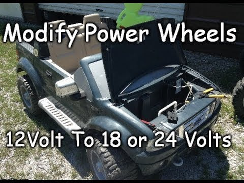 How To Mod 12v Power Wheels To 18v Safely