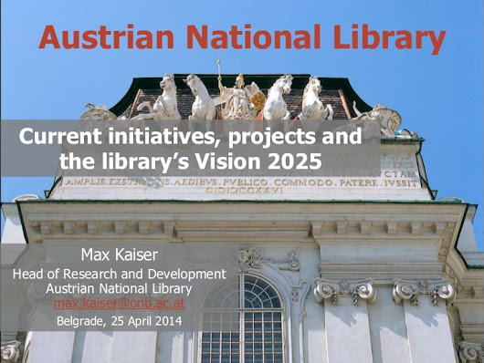 Austrian National Library - Current initiatives, projects and the l...