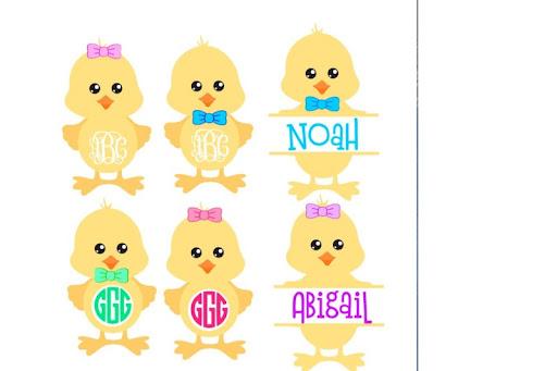 Download Free Easter chick svg, easter monogram, easter svg, easter ...