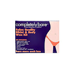 Completely Bare Salon Quality Bikini & Body Wax Kit - Smoother Skin And Less Redness, Easy To Use, No Mess, Irritation Free Body Hair Removal