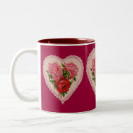 Roses in Heart Mug