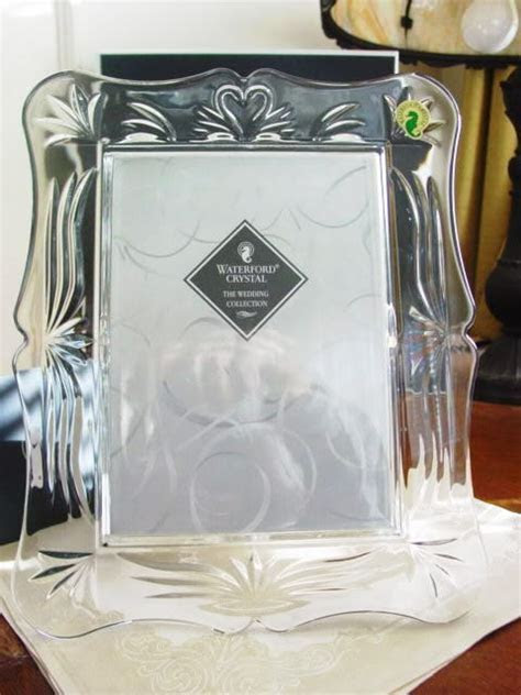 Waterford Crystal WEDDING 5 X 7 Photo Picture Frame   NEW