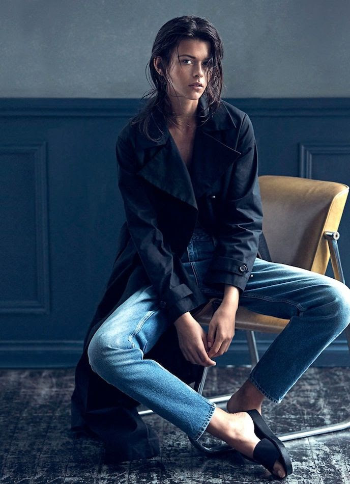 Le Fashion Blog Wet Look Hair Minimal Navy Trench Coat Classic Jeans Slide Sandals Harpers Bazaar Australia Editorial Georgia Fowler photo Le-Fashion-Blog-Wet-Look-Hair-Minimal-Navy-Trench-Coat-Classic-Jeans-Slide-Sandals-Harpers-Bazaar-Australia-Editorial-Georgia-Fowler.jpg