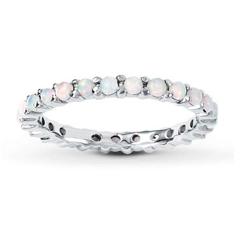 opal stackable ring   Kay   Stackable Ring Lab Created