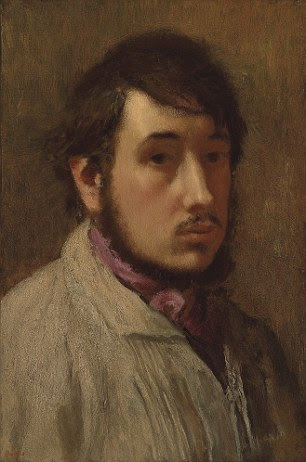 """Edgar Degas (1834-1917).  Autoportrait.  Estampado com a assinatura """"Degas"""".  Óleo sobre tela.  Pintado em 1857-1858.  Estimativa: R $ 350.000 para 450.000"""