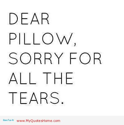 Dear Pillow Sorry For All The Tears Mistake Quote