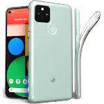 Google Pixel 5 Case, Clear Transparent See-Thru Flex Gel TPU Skin Slim Phone Cover for Google Pixel 5