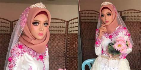 tren  riasan pengantin hijab mirip sailormoon dream
