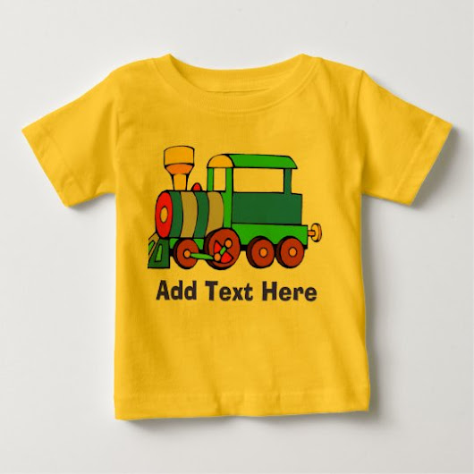 Comical Train add text Baby T-Shirt
