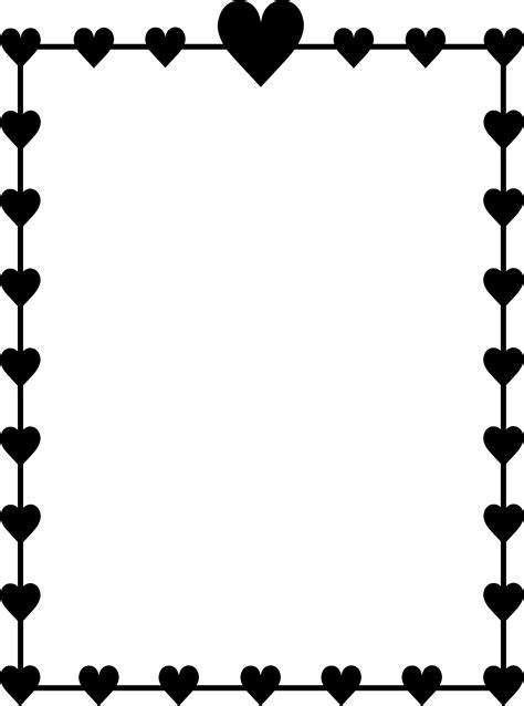 Black Hearts Border Frame   Free Clip Art