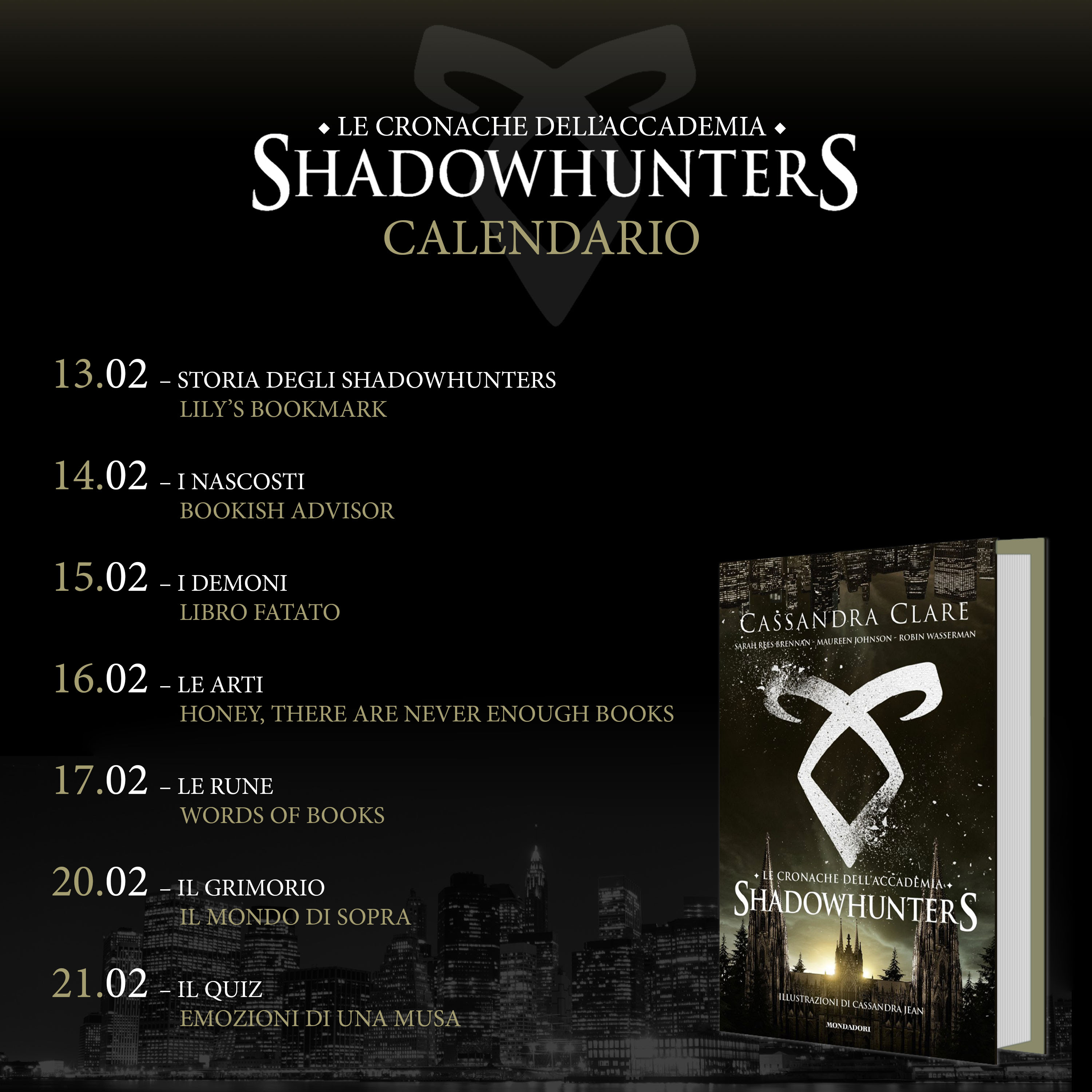 Calendario Shadowhunters Academy