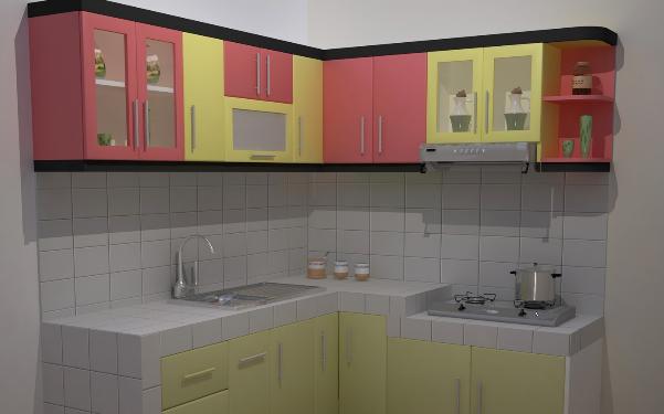Dekorasi Desain Meja Dapur Bentuk L Terbaru