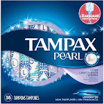 Tampax Pearl Lites Unscented Tampons - 36 count
