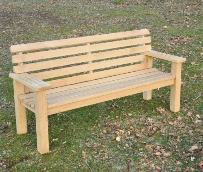 Solid Mortise And Tenon Construction In Larch And Oak Screw Holes In The Rails Are Plugged Flat Arms For Resting Mugs Cups Or Pints Comfort Seat Profile Memorial Or Garden Use
