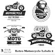 VECTORS – RETRO MOTORCYCLE LABELS 2