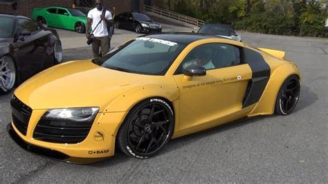 First WideBody Liberty Walk Audi R8 !!! // APAC Pre Sema Meet   YouTube