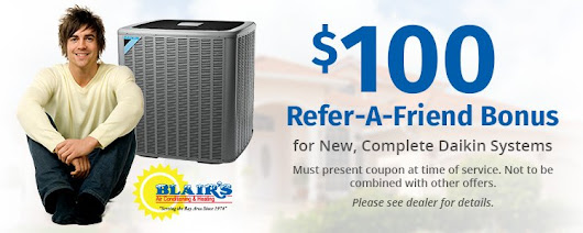 Air Conditioning Specials | Blair's Air Conditioning & Heating