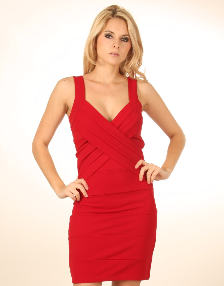Yuba city black and red bodycon dress