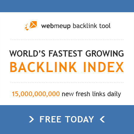 Here's a new huge publicly available Backlink Index by webmeup. Adds 15 billion new fresh links daily!