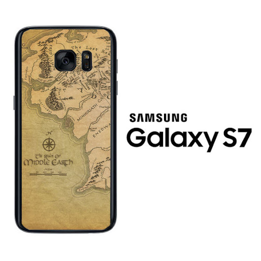 Map of Middle Earth LOTR X0152 Samsung Galaxy S7 Case
