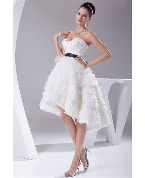 Reception Short Wedding Dresses High Low Cute Sweetheart