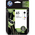 HP 65 Ink Cartridge, Pigmented Black/Dye-based tricolor - 2-pack