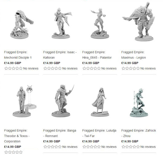 Modiphius Unveils 'Fragged Empire' Miniatures Line | The Gaming Gang