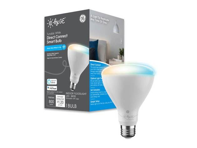 Cync by GE 93128977 Tunable White Direct Connect Smart Bulb (1 LED BR30 Light Bulb) for $22